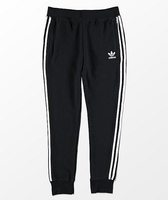c0cc1d209f2 adidas Boys Trefoil Black Sweatpants in 2019 | Clothes I want ...