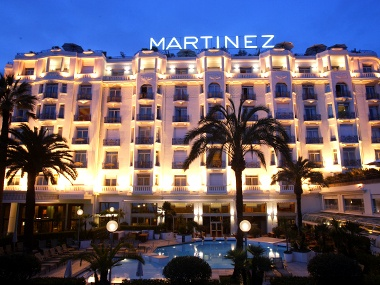 Hotel Martinzez in Cannes, France. Art deco style...very chic and on the Croisette where all the action happens.