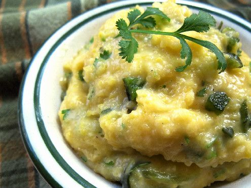 Green Chile Cheese Grits. Perhaps this variation will warm my husband up to my childhood staple.
