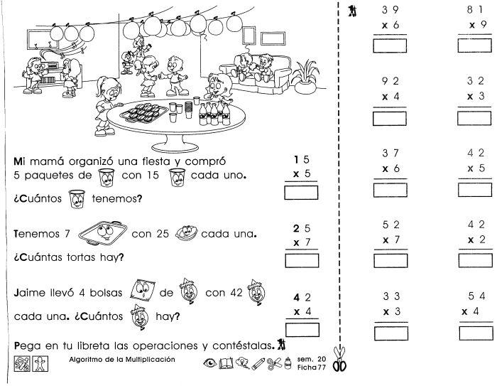 Algoritmo de la multiplicación | desarrollo de la inteligencia ...