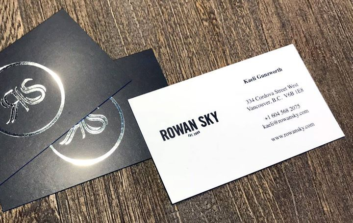 86 best business cards by clubcard images on pinterest rowan sky shines bright with silver foil stamping on silklaminated businesscardsilliant our close neighbors even closer friends and long time reheart Image collections