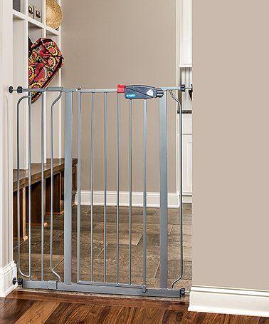 Look what I found on #zulily! Silver Extra Tall Walk-Through Pet Gate #zulilyfinds