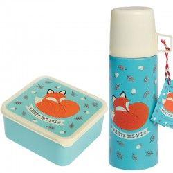 Thermosflasche  und Brotdosen Set RUSTY THE FOX von Rexinter