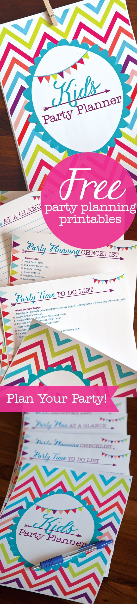 Free Kids Party Planning Printables | Organize your plan for the best party with checklists