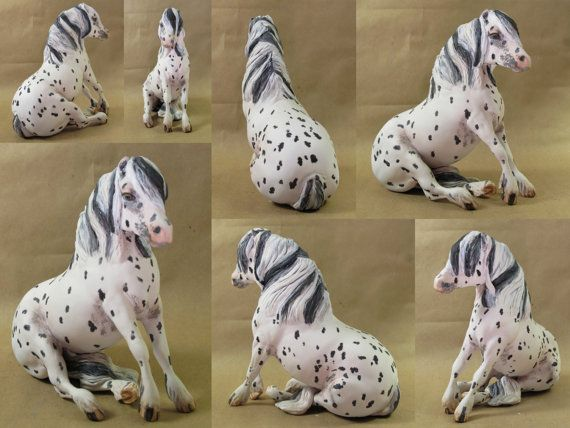 Sitting Pony drastic custom Breyer horse by HorsenfefferHobbies, $250.00