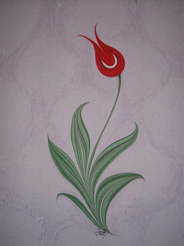 marbling - Ebru Art (Turkish Marbling) - Tulip Ebru by gafur yakar would do this one fooo sure