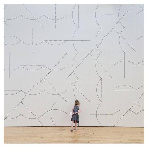 Sol Lewitt. Wall Drawing #136: Arcs and lines, 1972 via Dia...