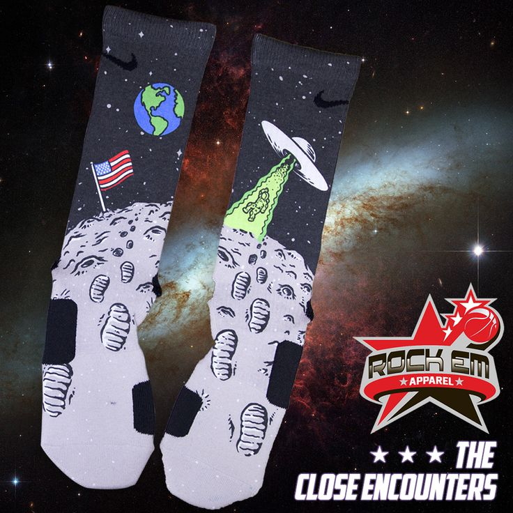 "Nike Elite Socks ""The Close Encounters"" by Rock Em Apparel"