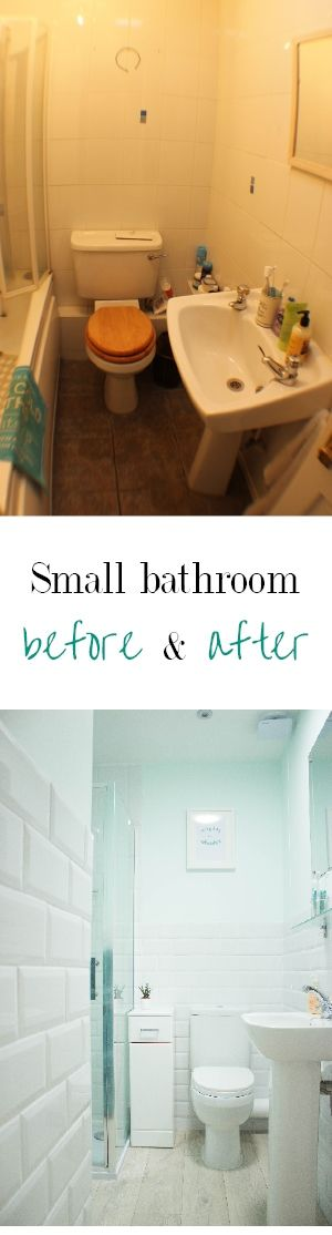 Small bathroom makeover plus before and after pictures! How to decorate a small bathroom with no window | by floral and feather
