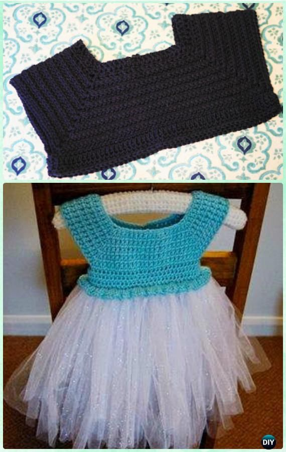 Crochet Frozen Tutu Dress Free Pattern Instructions-Crochet Tutu Dress Free Patterns