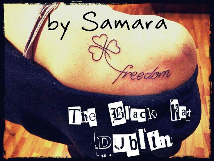 Freedom shamrock tattoo by Samara Black Hat Tattoo Dublin