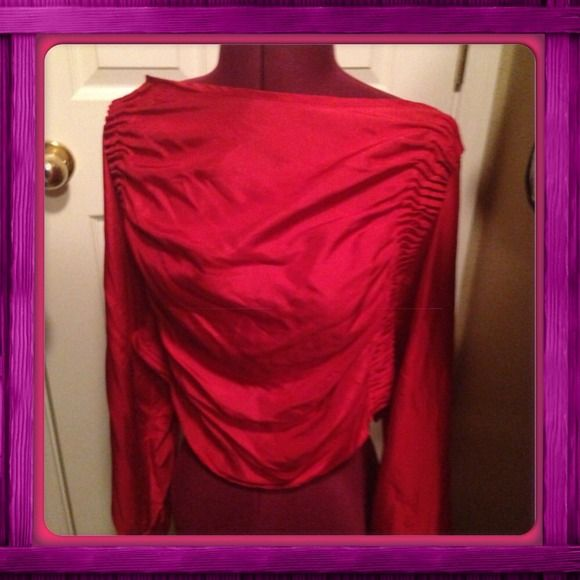 🌺Authentic Armani Exchange top 100 percent silk🌺 Authentic Armani Exchange top beautifully designed light material and very formal. It's from the silk collection. It's a beautiful red color. A/X Armani Exchange Bags