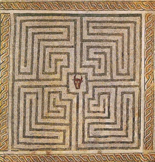 Roman mosaic at Conimbriga, Portugal