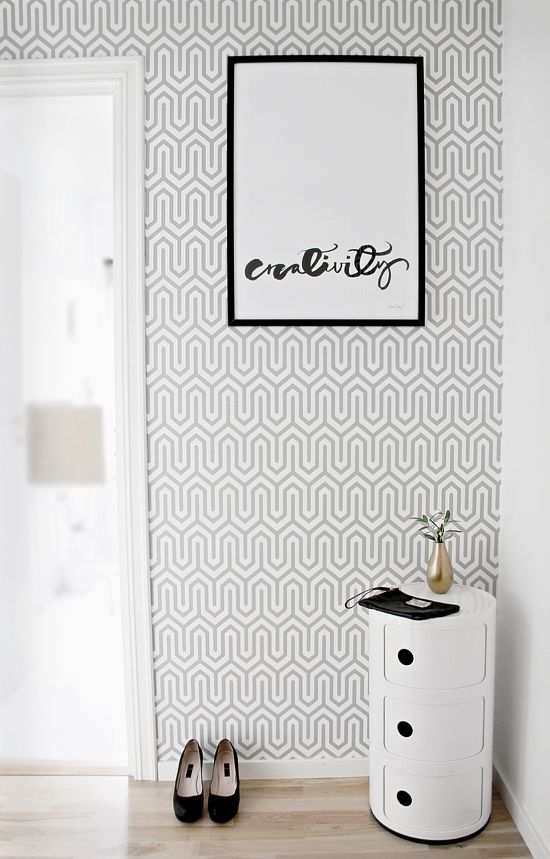 Trendy wallpaper - Dania from Storeys. Creativity poster by Ylva Skarp.