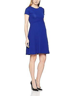 16, Blue, Dorothy Perkins Maternity Women's Empire Waist Fit and Flare Dress NEW
