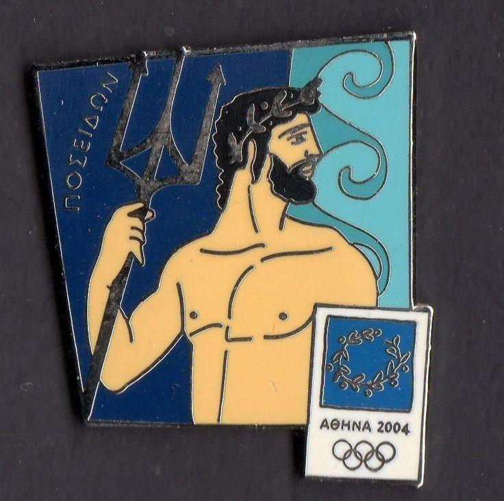 .ATHENS 2004. OLYMPIC GAMES. OLYMPIC PIN. POSEIDON