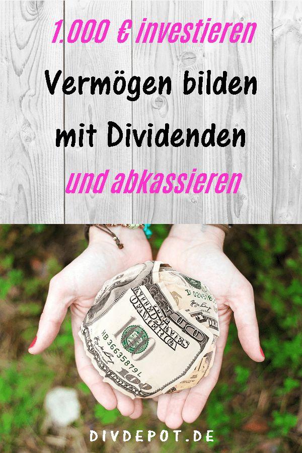 So startest du mit 1.000 Euro den Vermögensaufbau mit Dividenden
