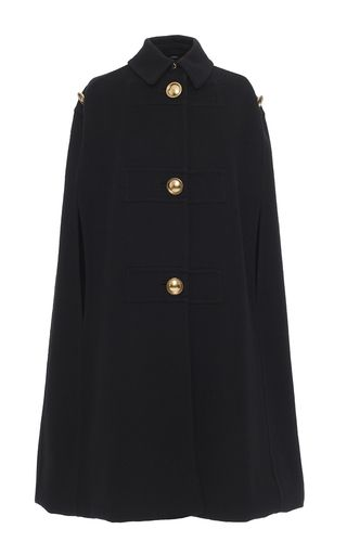 Cashmere Military Cape by BURBERRY for Preorder on Moda Operandi
