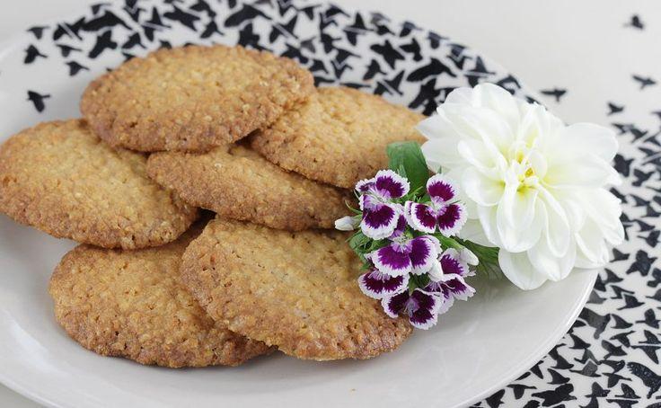 Chrupiące ciasteczka z płatków jaglanych i kokosa | Ania gotuje