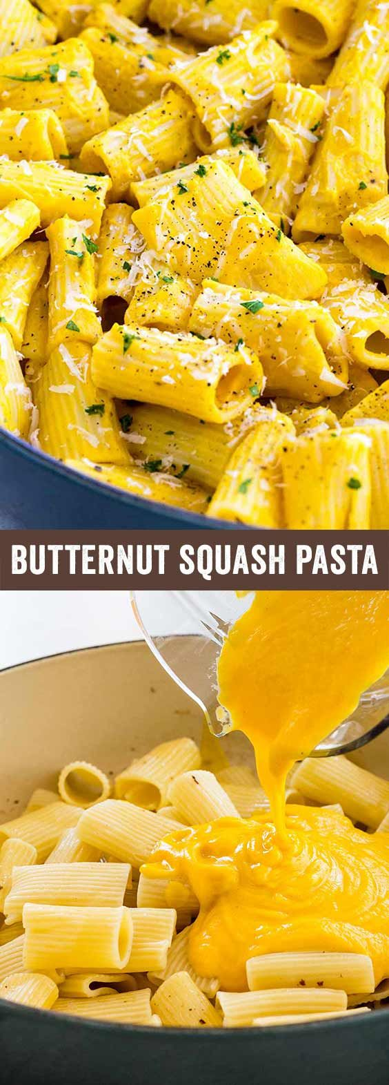 Creamy butternut squash pasta sauce, who says satisfying can't be healthy? This season, skip the marinara recipes and opt for a nutrient-loaded sauce. via @foodiegavin