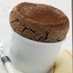 Mexican Hot Chocolate Souffle; 1tsp unsalted butter, 3Tbsp sugar subsitute, 2oz sugar-free chocolate, 2 egg yolks, 1Tbsp warm water, 1tsp vanilla, 2/4tsp cayenne pepper, 3 egg whites; 2.3g net carbs