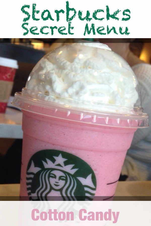 Starbucks Secret Menu Cotton Candy Frappuccino Recipe Recipe Cotton Candy Frappuccino Starbucks Drinks Recipes Starbucks Secret Menu