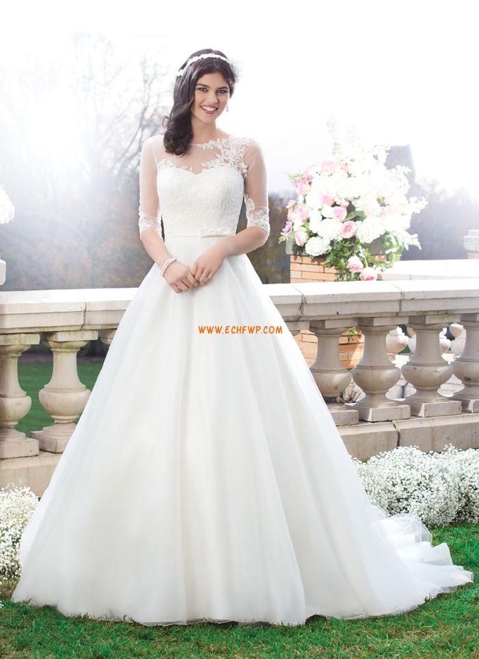 Elegant & Luxurious Fall Long Sleeve Wedding Dresses 2014