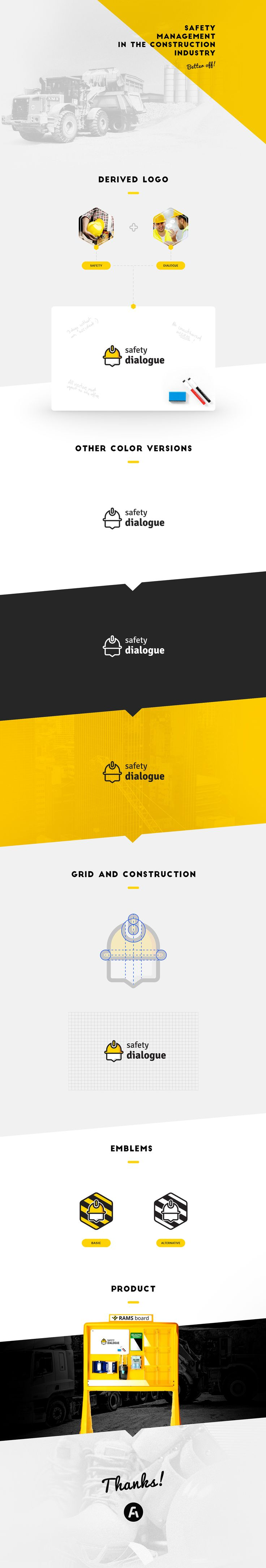 """The logo """"Safety dialogue"""" is a promotion the Product """"Rams Boards"""" that help on the Safety management in the construction industry.---Hire me: falgowski @ gmail.com"""