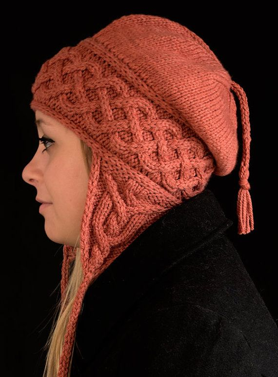 Kolmen Earflap Hat Knitting Pattern - PDF #ad Also includes option without earflaps and headband option. Love the cables on this hat. More pics on Etsy tba