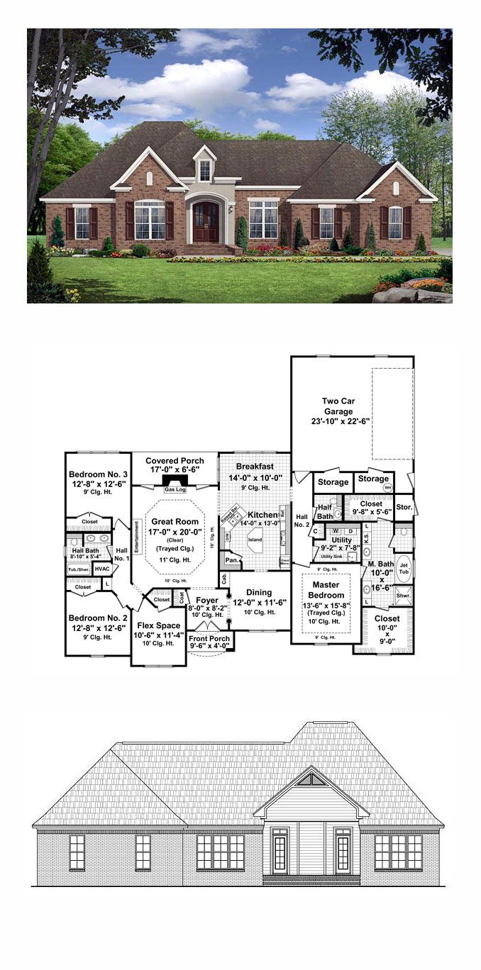 Country European French Country Traditional House Plan