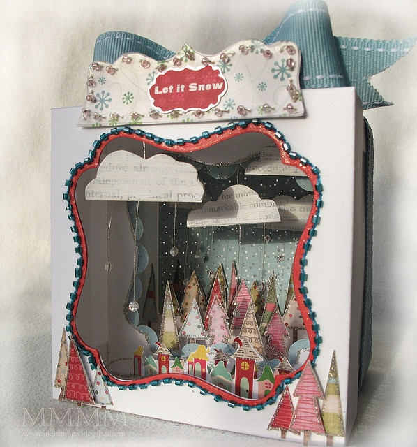 Diorama with lots of glitter