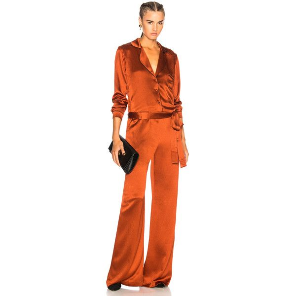 Alexis Gilda Jumpsuit (795 AUD) ❤ liked on Polyvore featuring jumpsuits, rompers & jumpsuits, orange romper, orange jumpsuit, alexis jumpsuit, orange jump suit and playsuit romper