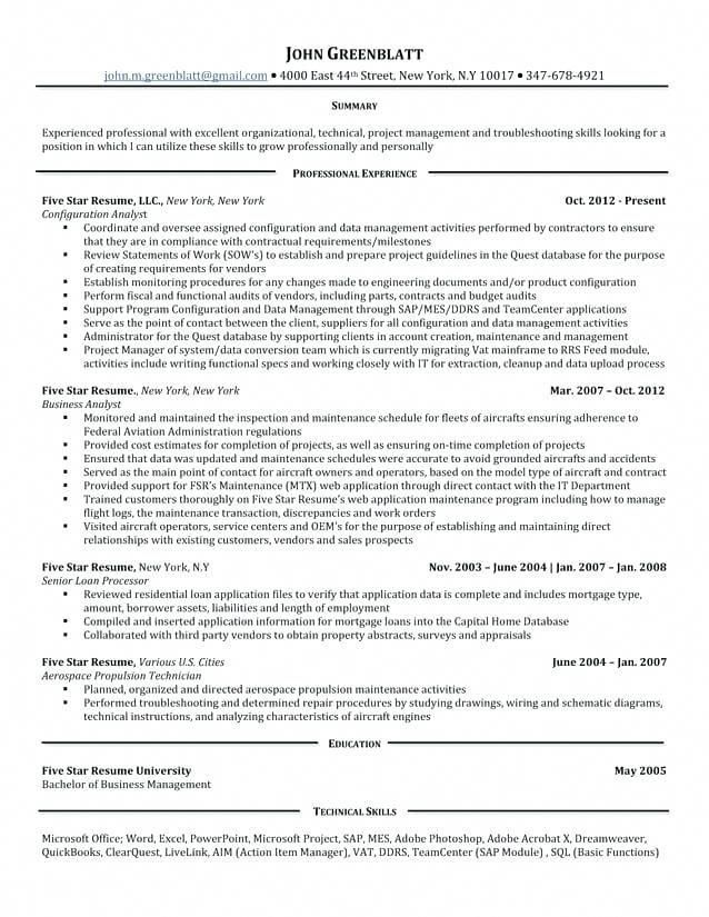5 Star Resume Samples 1 Resume Examples Pinterest Resume