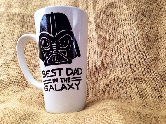 Darth Vader Best Dad in the Galaxy Coffee Mug // 18 oz Large Coffee Cup with Hand painted Design perfect for Star Wars Fan Father's Day on Etsy, $9.00