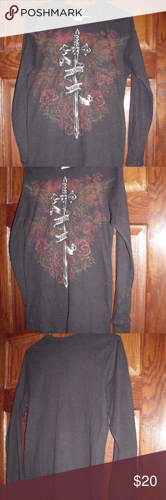Épée thermique de tatouage de Miami Ink Roses Banner Sz. LG très beau long slee Miami Ink …   – My Posh Closet