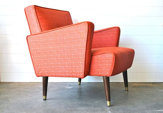 Mid-Centruy Coral Arm Chair