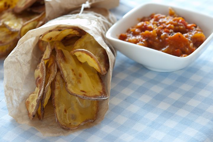When Doritos just won't do . . .: 79 Ideas, Dinners Ideas, Homemade Potatoes, Homemade Potatochip, Healthy Homemade
