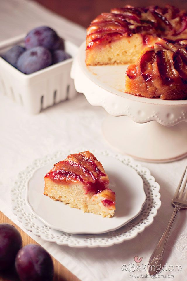 Italian Plum Upside Down Cake from Bakingdom