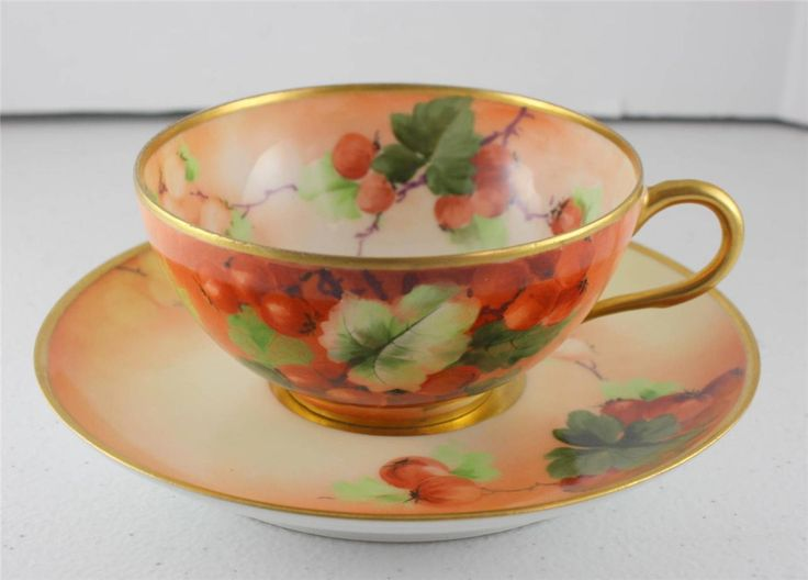 Similar to mine, Hand-Painted-Artist-Signed-Ginori-Italy-Firenze-Ware-Roman-Cup-Saucer-Porcelain, asking 165$ ebay