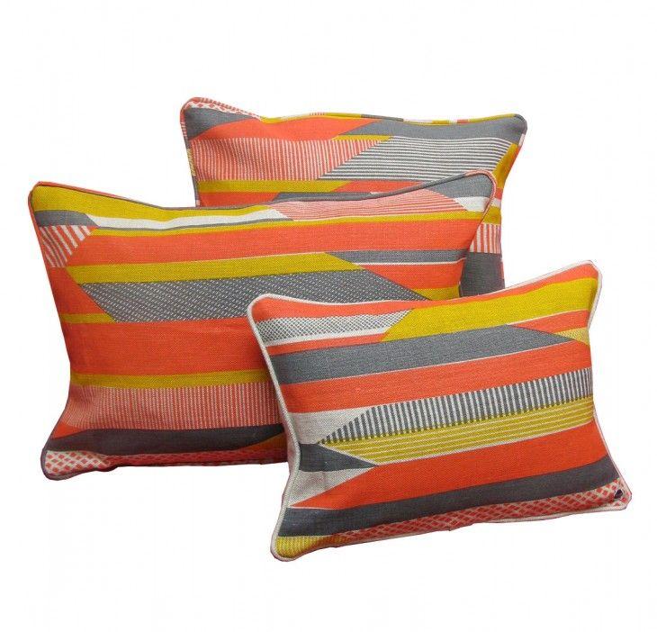 textured stripe cushions Tamasyn Gambell