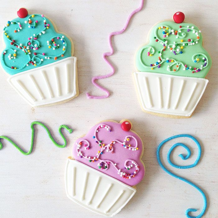 Cupcake Sugar Cookies - icing and sprinkles - what's not to love!!! By Bake Sale Toronto