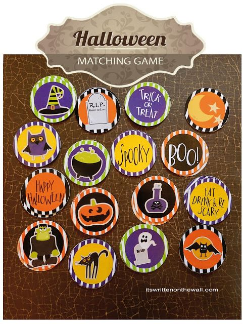 halloween matching game for hone parties and school parties 33 fun halloween games treats and ideas for your - Halloween Games For Kids Party At School