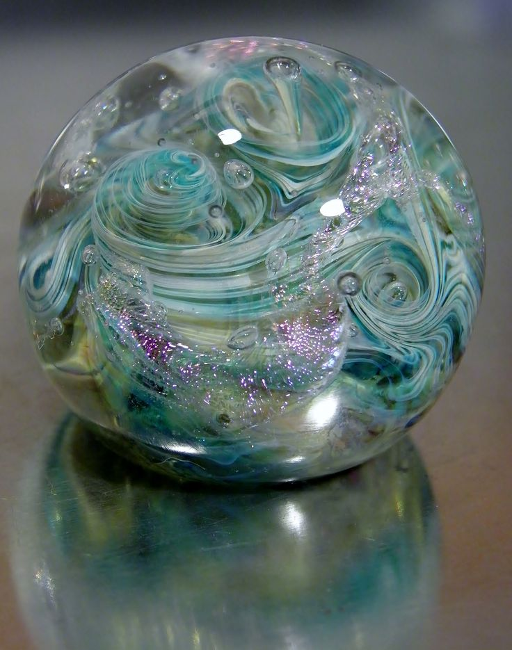 Mini Paperweight - Jennie Lamb Glass has such mystery and beauty.