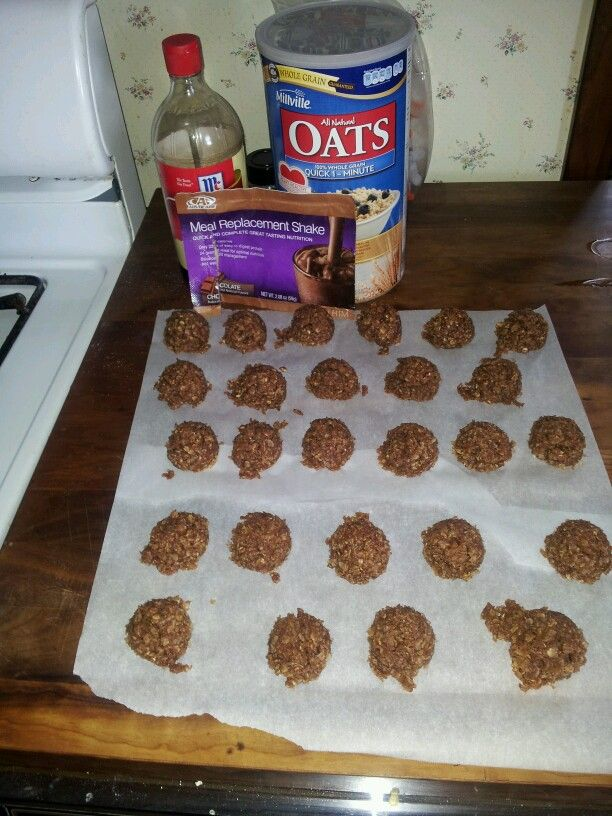 I made nobakes with the amazing AdvoCare Meal Replacement Shake. Mmmmmm! https://www.advocare.com/160223401