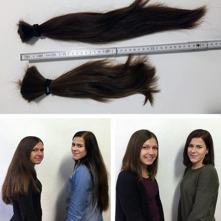 Unsere #Rapunzeln Stephanie und Lisa haben das #Haar herabgelassen. Für den guten Zweck wurden insgesamt 72 cm Haare abgeschnitten. Gesendet werden die #Haare an haare-spenden.de, um #Perücken für krebskranke Menschen zu knüpfen.     #neueFrisur #Traudichauch