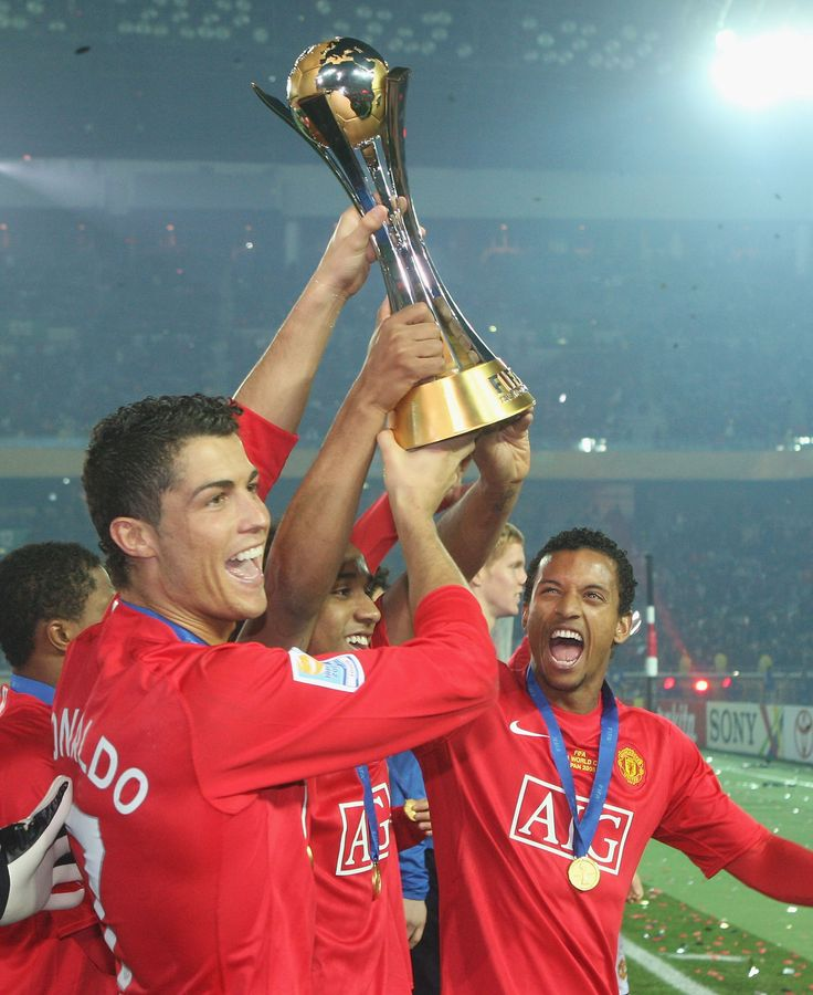 Champions of the World 2008: Cristiano Ronaldo helps his @manutd teammates to victory in the Club World Cup in Japan.
