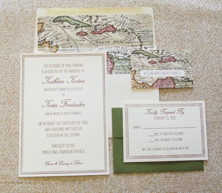 Vintage Map Wedding Invitations Google Search