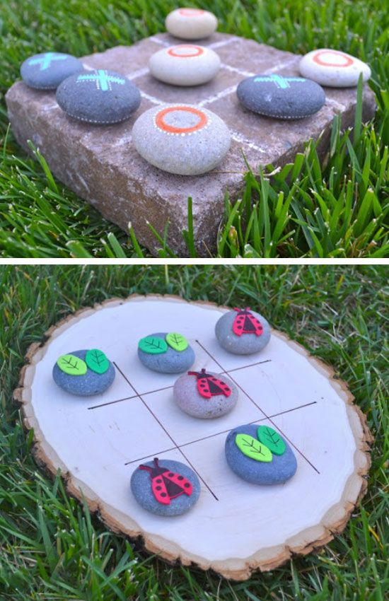 Garden Tic-Tac-Toe | Click Pic for 19 DIY Summer Crafts for Kids to Make | Easy Summer Activities for Kids Outside