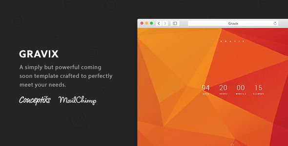 Gravix - A Retina Ready Coming Soon Template - Under Construction Specialty Pages