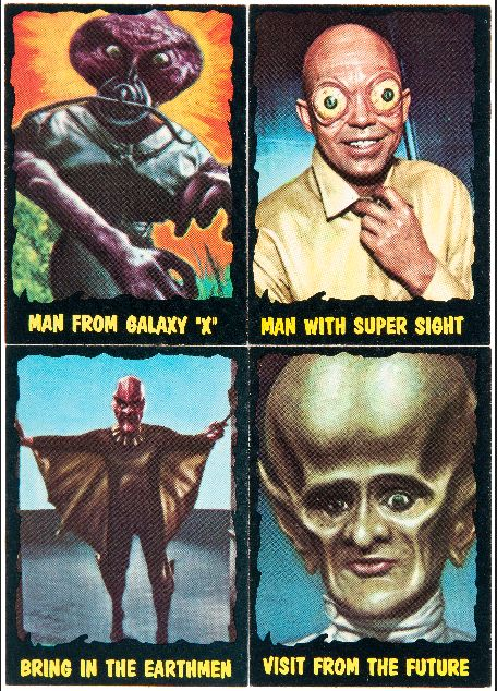 "atomic-flash: "" Classic Creatures From The Outer Limits - From the O-PEE-CHEE gum card set, 1964 (via Hake's) """